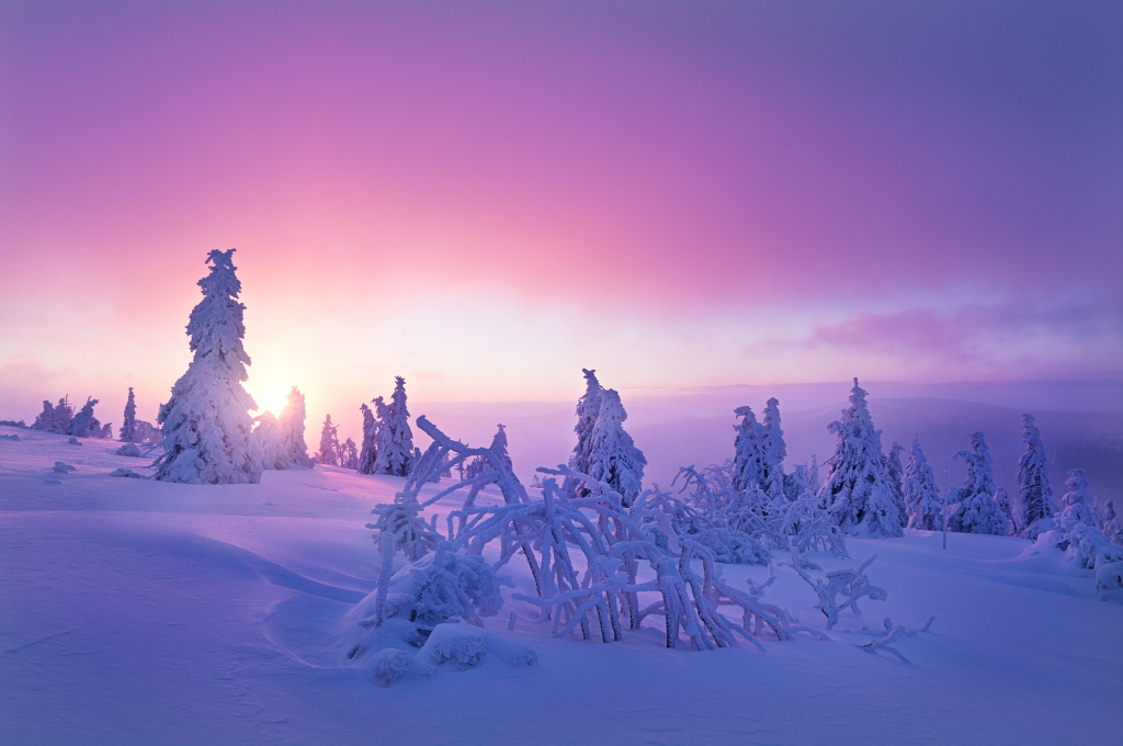 Fedora 25 wallpaper -Winter in Bohemia