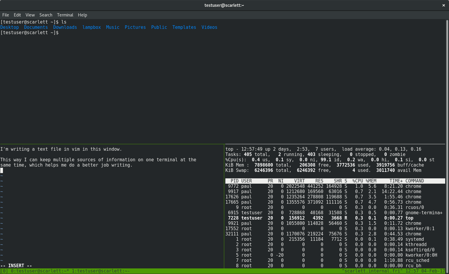 Use tmux for a more powerful terminal - Fedora Magazine