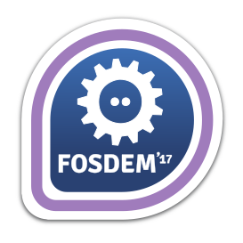FOSDEM 2017 Attendee badge can be found at the Fedora community stand