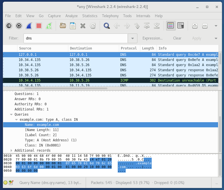 wireshark sous linux