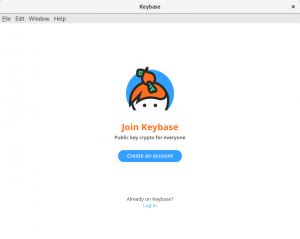 Keybase initial GUI window