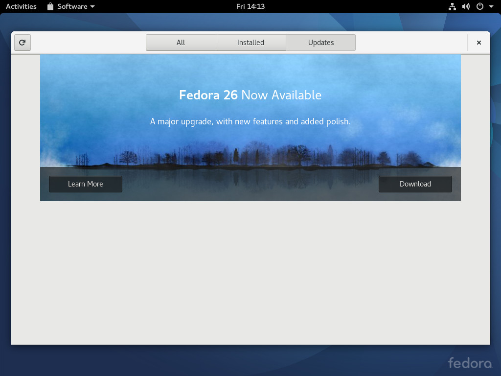 Upgrading Fedora 25 to Fedora 26 - Fedora Magazine